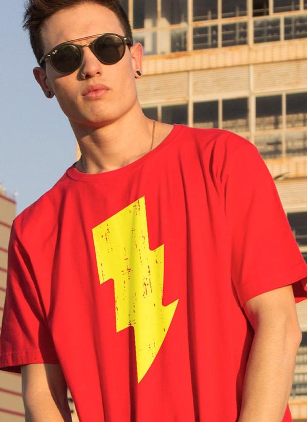 Camiseta Shazam Raio