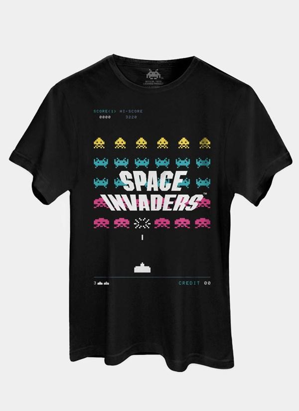 Camiseta Space Invaders Laser Base
