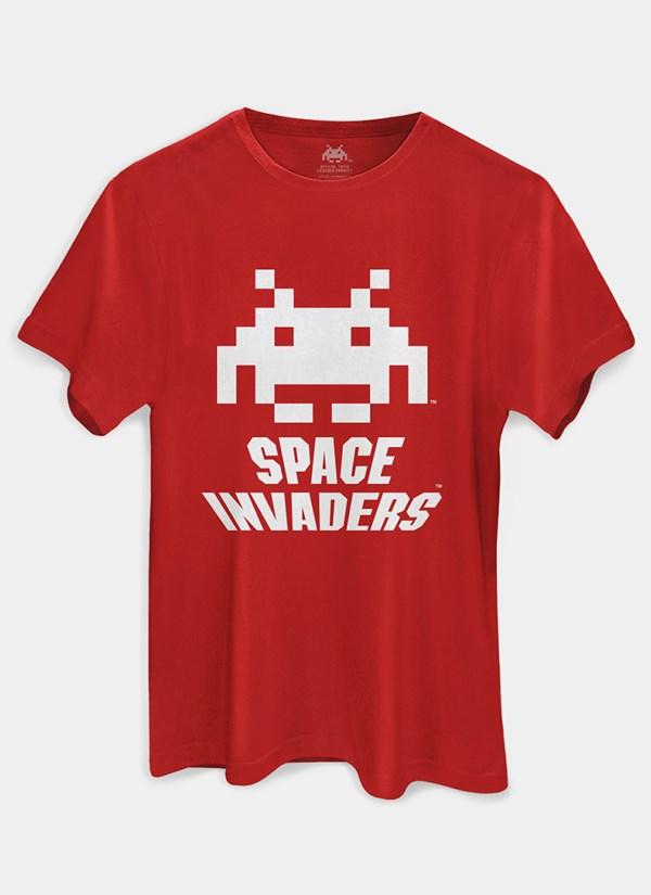 Camiseta Space Invaders Logo White