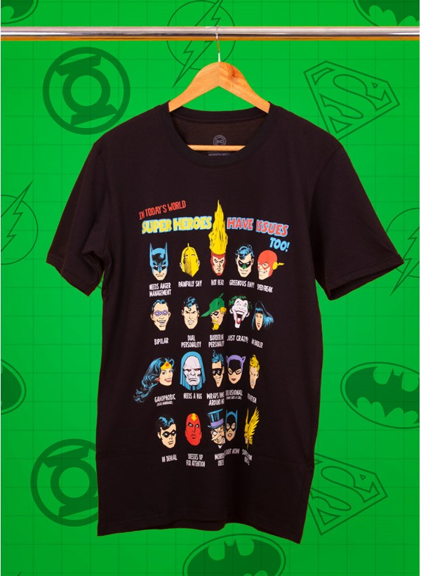 Camiseta Super Heroes Have Issues