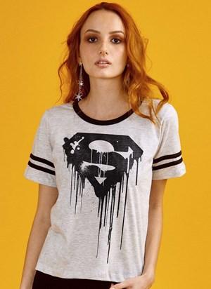 Camiseta Superman 80 Anos Logo Melting