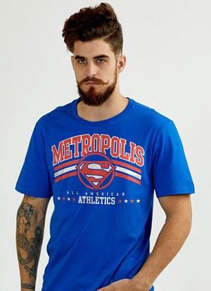 Camiseta Superman 80 Anos Metrópolis