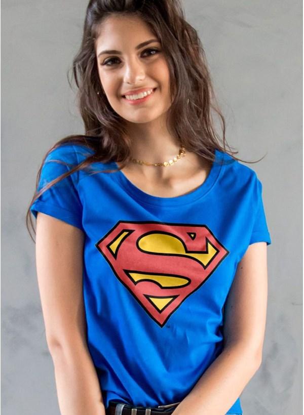 Camiseta Superman Logo Feminina