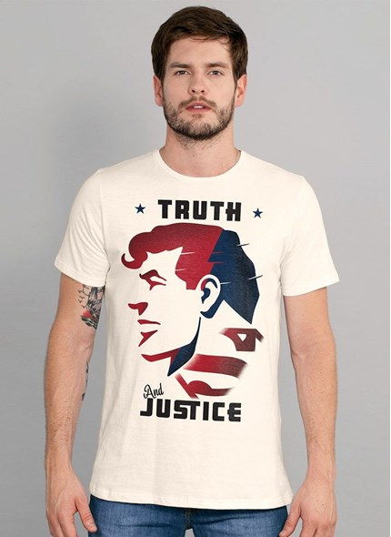Camiseta Superman Truth and Justice