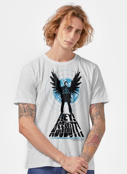 Camiseta Supernatural Castiel Hey