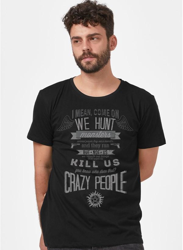 Camiseta Supernatural I, Mean Come on we Hunt