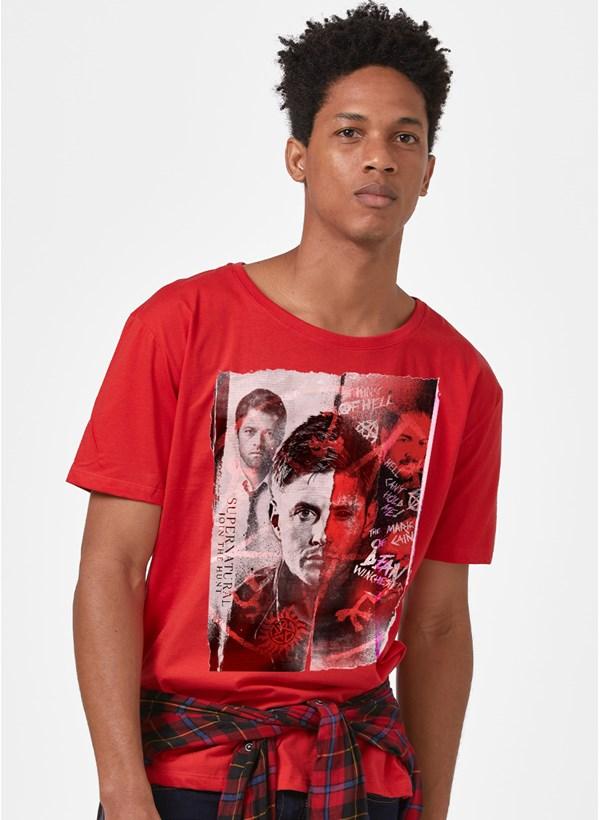 Camiseta Supernatural Recorte