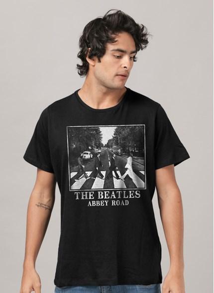 Camiseta The Beatles Abbey Road Black