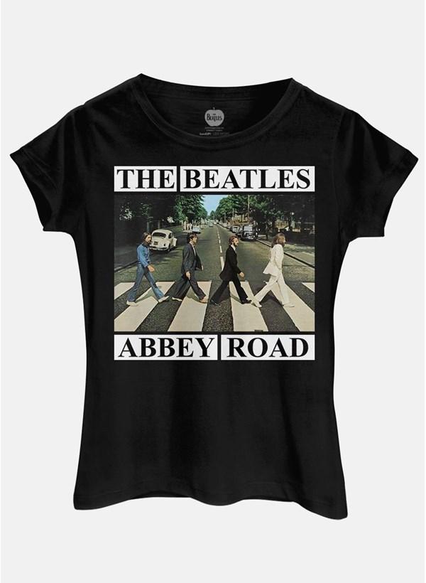 Camiseta The Beatles Abbey Road Capa - Preta