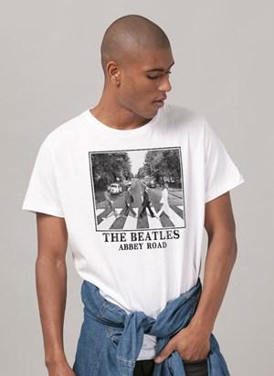 Camiseta The Beatles Abbey Road White