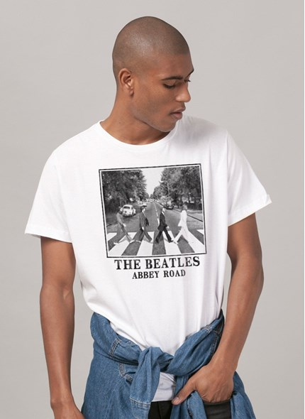Camiseta The Beatles Abbey Road White