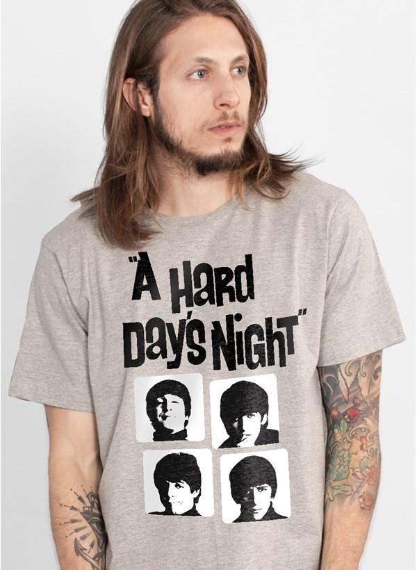 Camiseta The Beatles Hard Day´s Night Grey