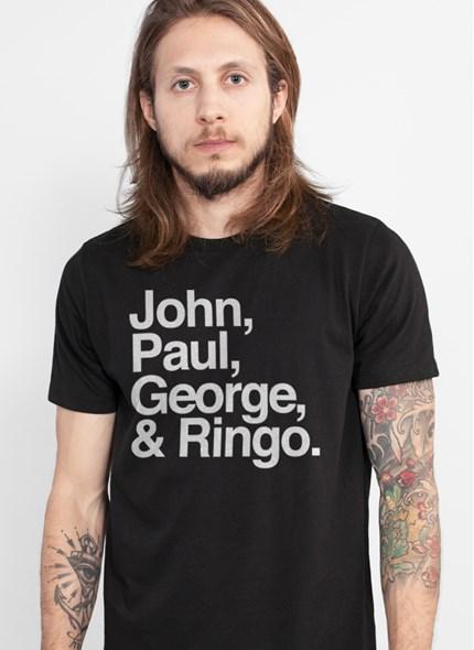 Camiseta The Beatles Names