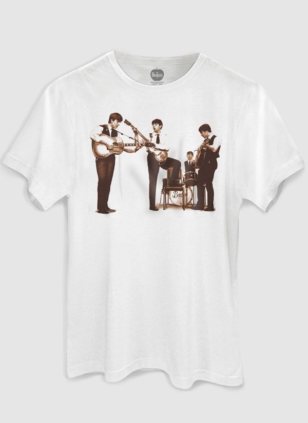 Camiseta The Beatles Picture Sepia