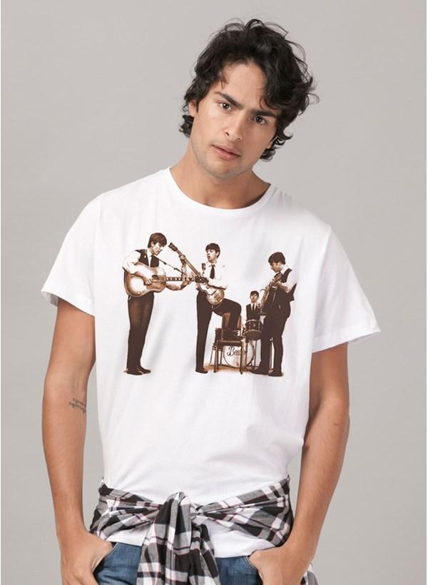 Camiseta The Beatles Picture Sepia