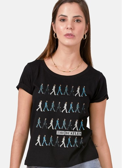 Camiseta The Beatles Running Down Abbey Road