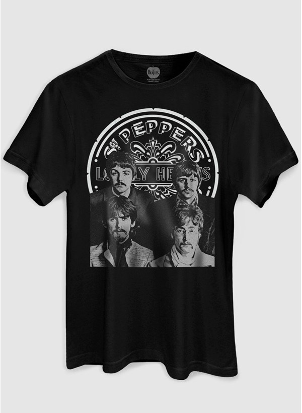 Camiseta The Beatles Sgt Pepper's P&B
