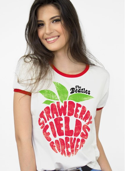 Camiseta The Beatles Strawberry Fields Forever