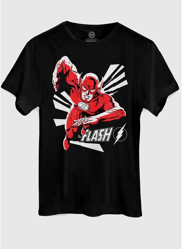 Camiseta The Flash In Action Black