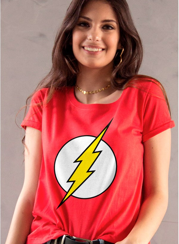 Camiseta The Flash Logo Feminina