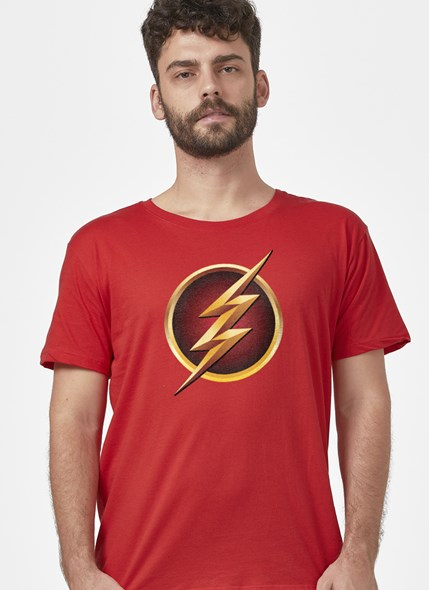 Camiseta The Flash Serie Logo Gold