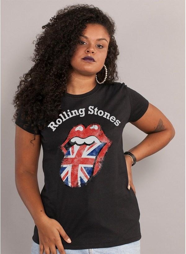 Camiseta The Rolling Stones UK Flag Black