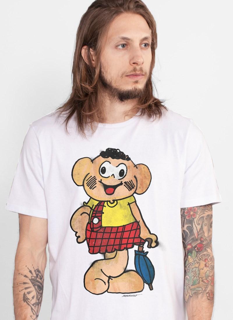Camiseta Turma da Mônica Cascão Muro