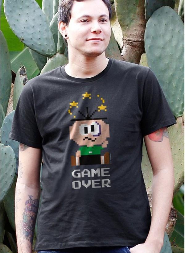 Camiseta Turma da Mônica Cebolinha Game Over