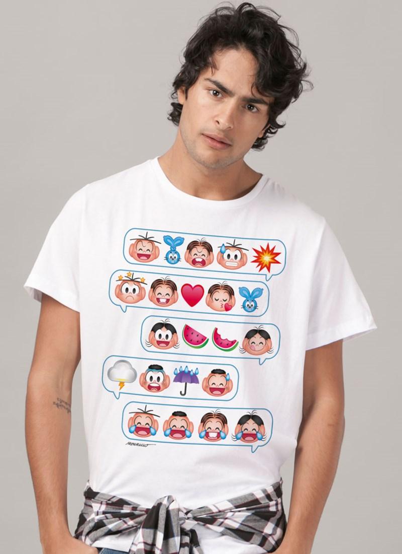 Camiseta Turma da Mônica Emoji