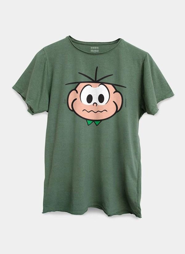 Camiseta Turma da Mônica Face Cebolinha