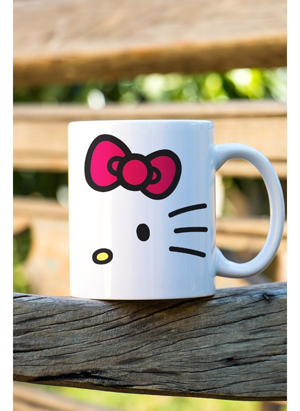 Caneca Hello Kitty White