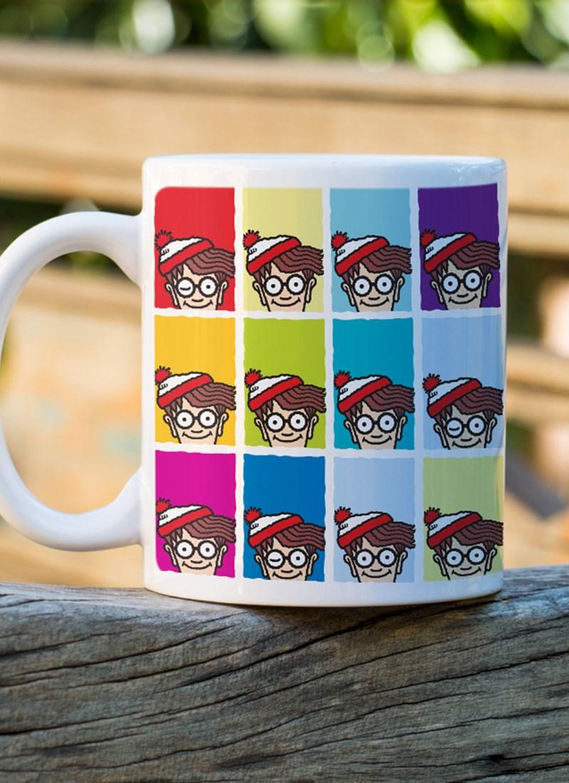 Caneca Onde está o Wally? Pop Colors