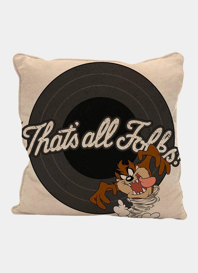 Capa para Almofada Looney Tunes Taz That's All Folks