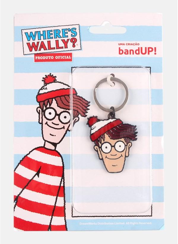 Chaveiro de Metal Onde Está o Wally? Rostinho