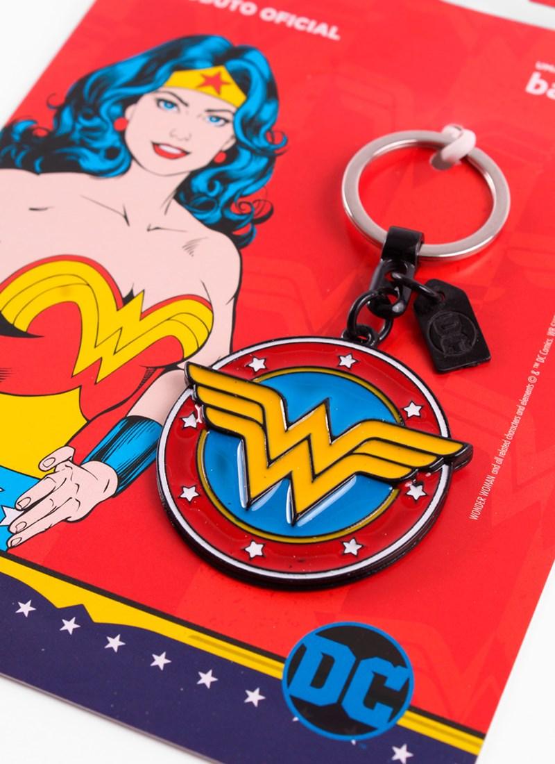 Chaveiro Mulher Maravilha Logo Retrô
