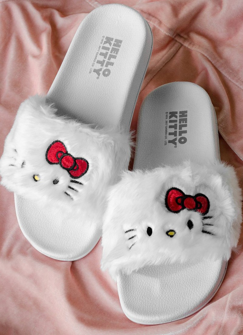 Chinelo Slide Hello Kitty White