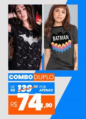 Combo 2 Camisetas Femininas Batman BF