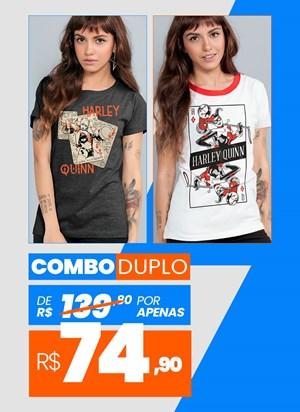 Combo 2 Camisetas Femininas Harley Quinn BF