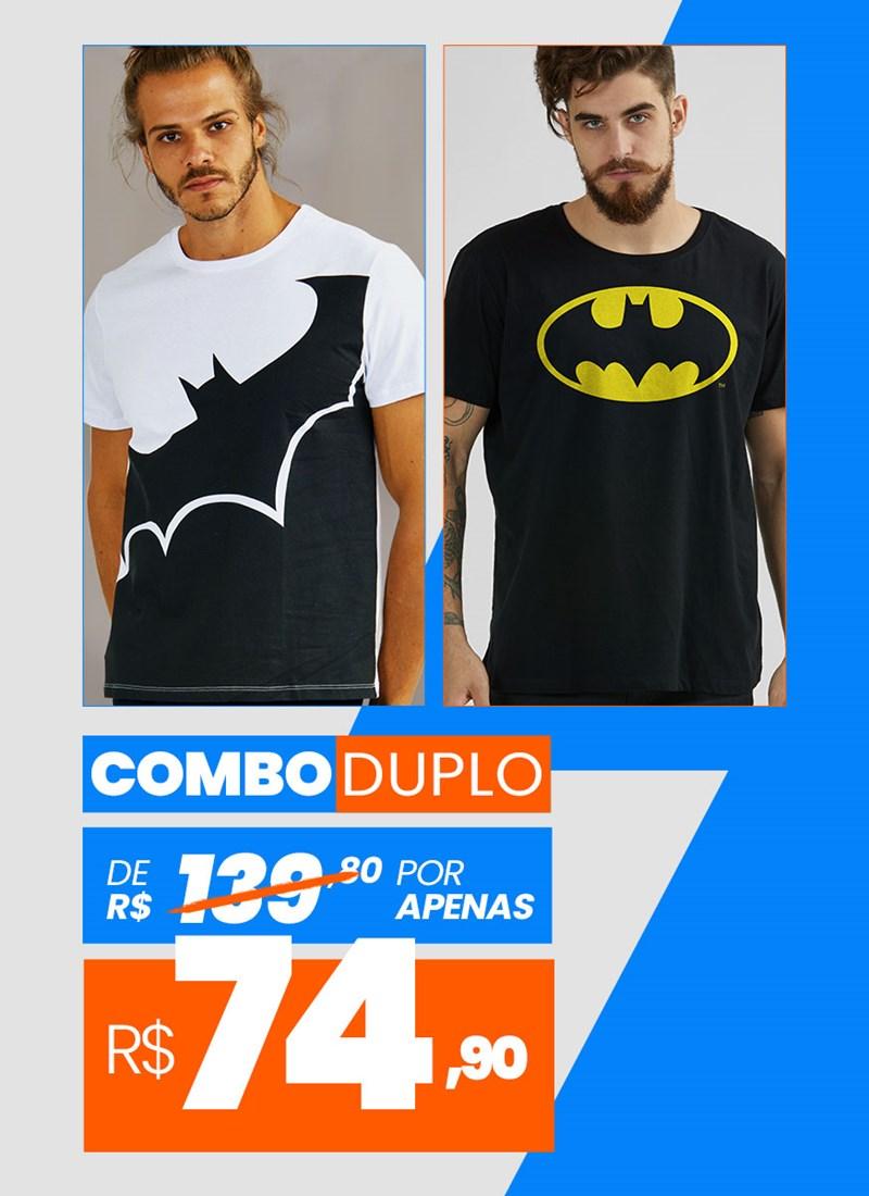 Combo 2 Camisetas Masculinas Batman BF