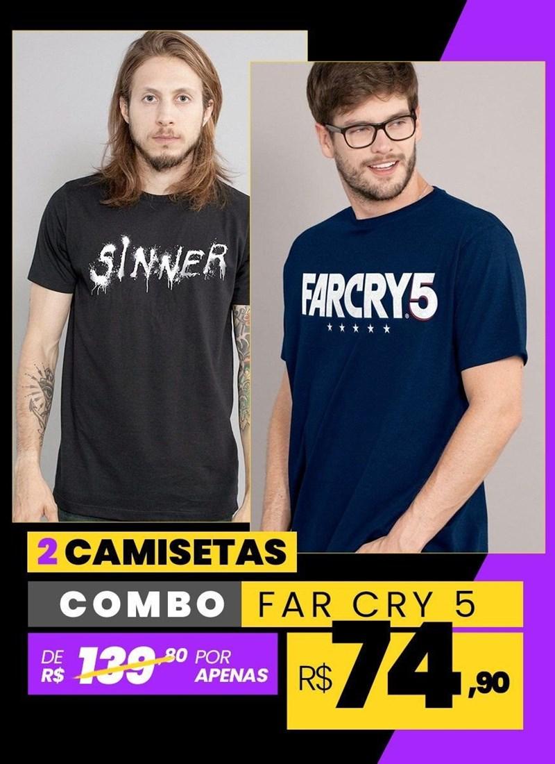 Combo 2 Camisetas Masculinas Far Cry 5