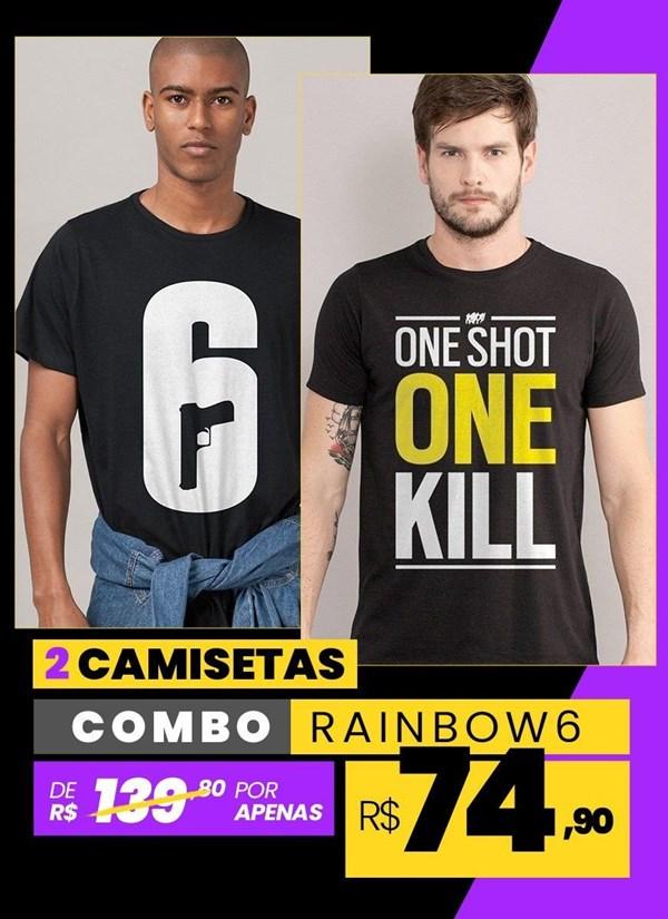 Combo 2 Camisetas Masculinas Rainbow Six