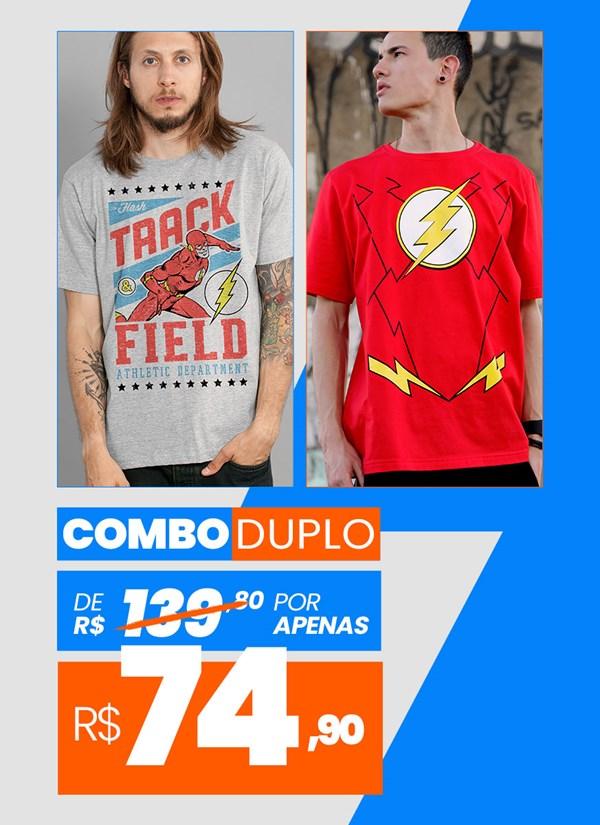 Combo 2 Camisetas Masculinas The Flash BF