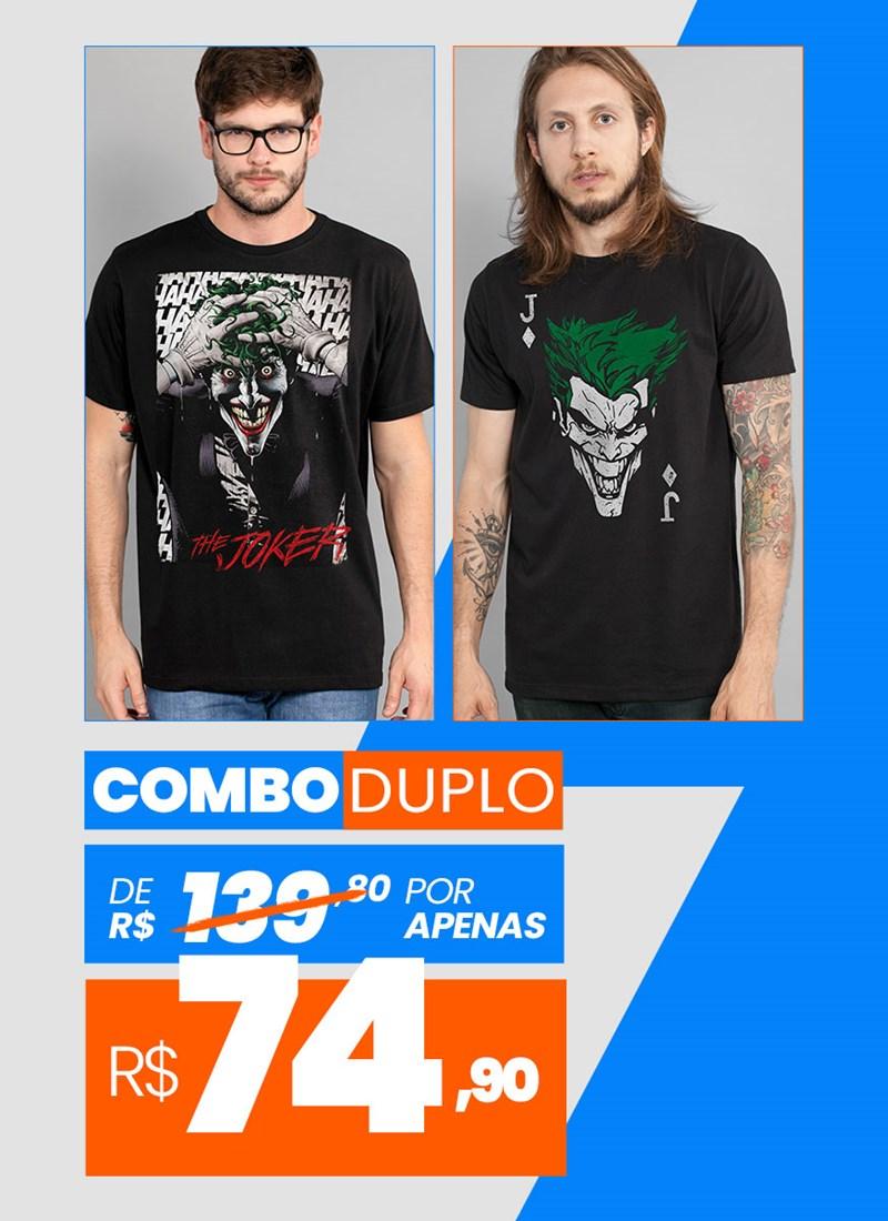 Combo 2 Camisetas Masculinas The Joker BF
