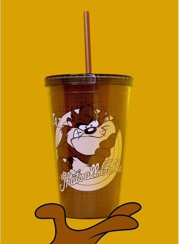 Copo Looney Tunes Taz That's All Folks