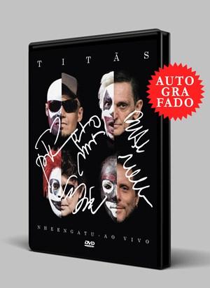 DVD Titãs Nheengatu Ao Vivo AUTOGRAFADO