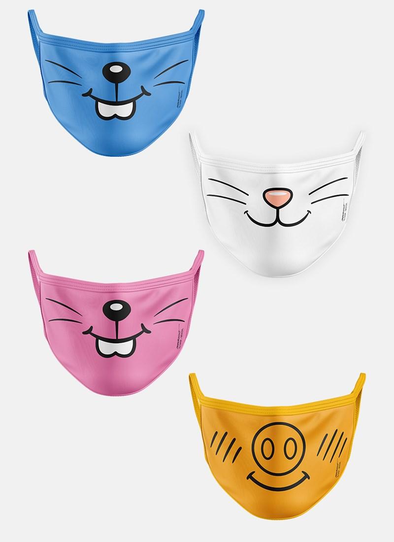 Kit de Máscaras Turma da Mônica Mascotes