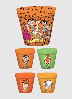 Kit Pipoca com 5 Potes Os Flintstones Personagens