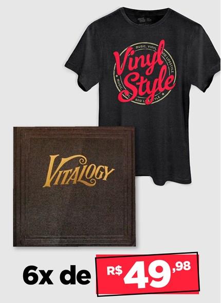 LP Duplo Pearl Jam - Vitalogy + Camiseta