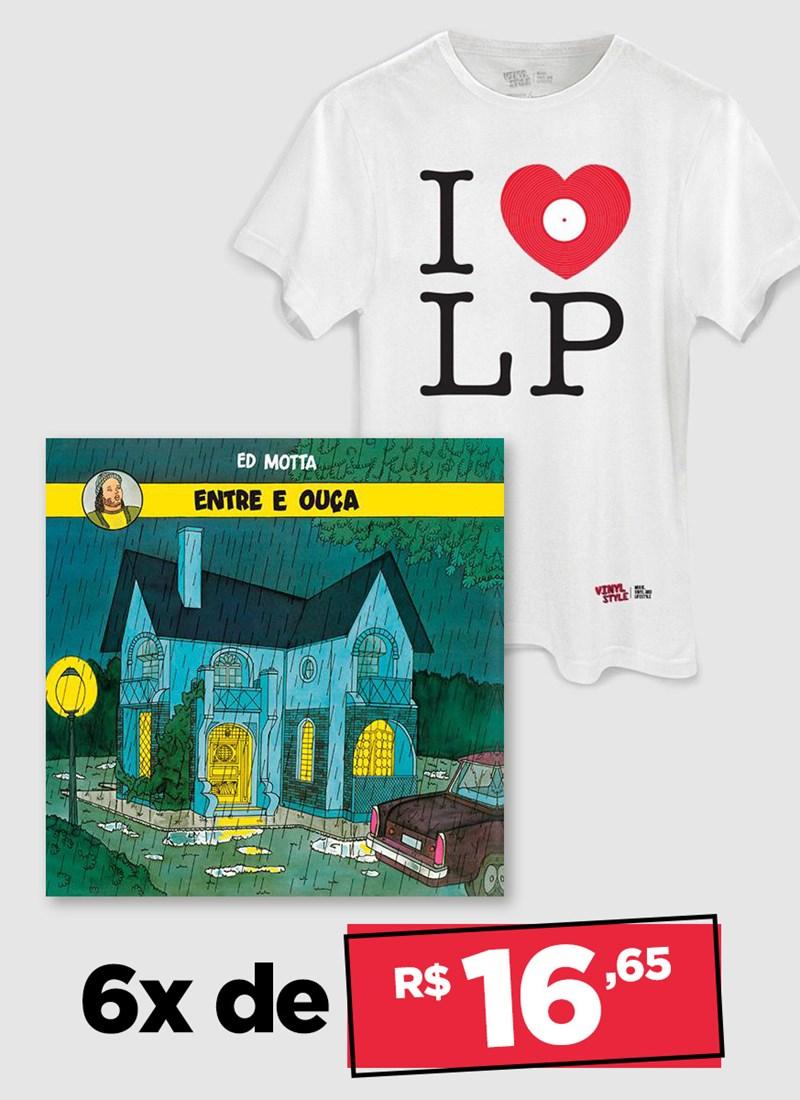 LP Ed Motta Entre e Ouça + Camiseta Grátis