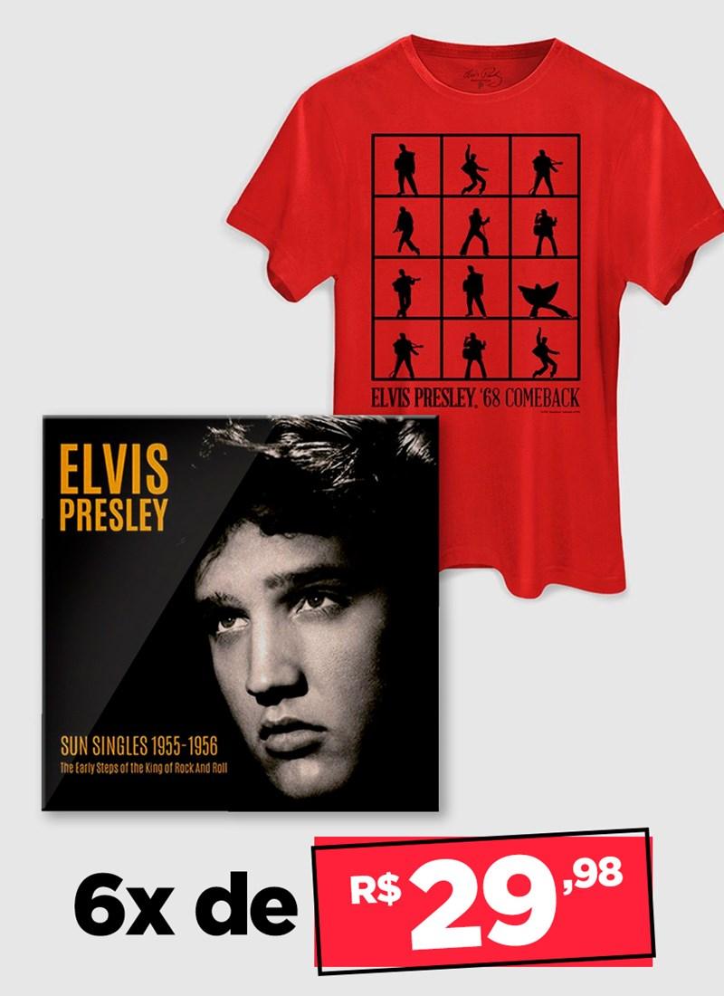 LP IMPORTADO Elvis Presley Sun Singles 1955 - 1956 + Camiseta Grátis